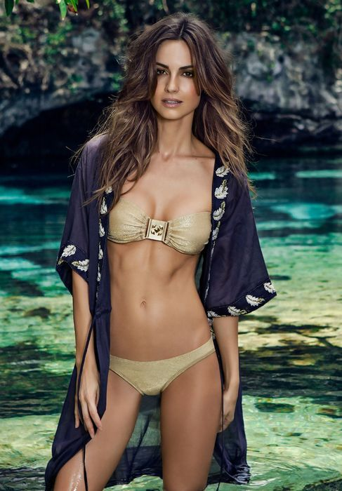 girl adorable bikini swimsuit beach sexy maillot attractive sea body