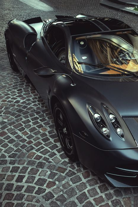 pagani black carbon drive speed headlight