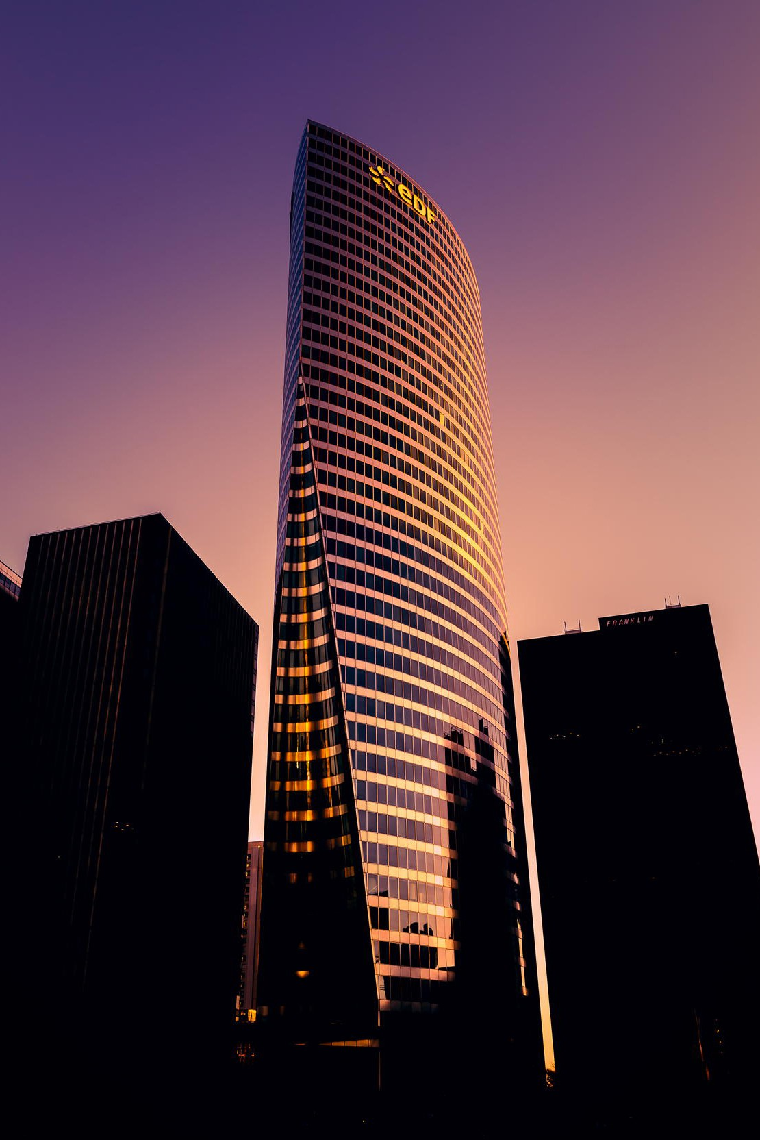 skyscraper city architecture building glass tall sky modern
