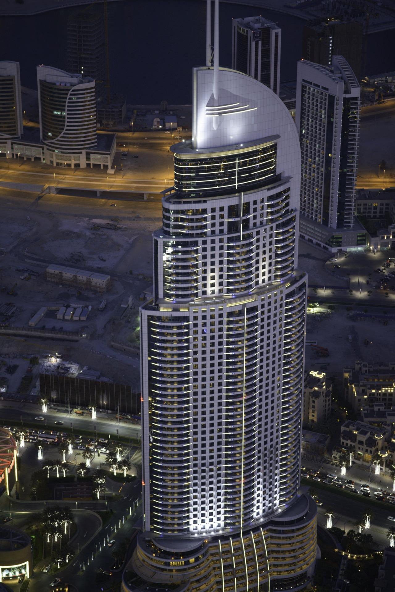 dubai address downtown hotel skyscraper night 1280x1920