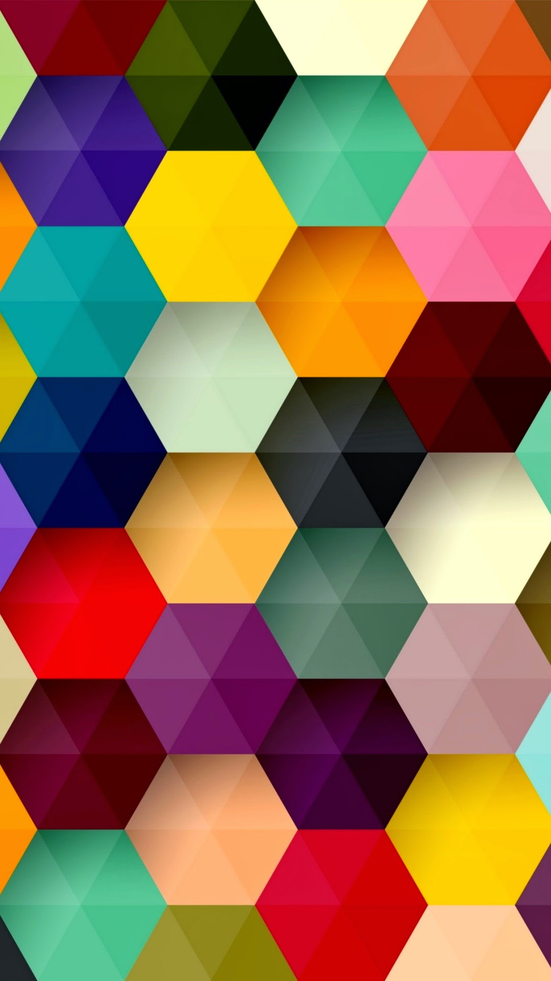 hexagon colorful abstract android wallpaper background