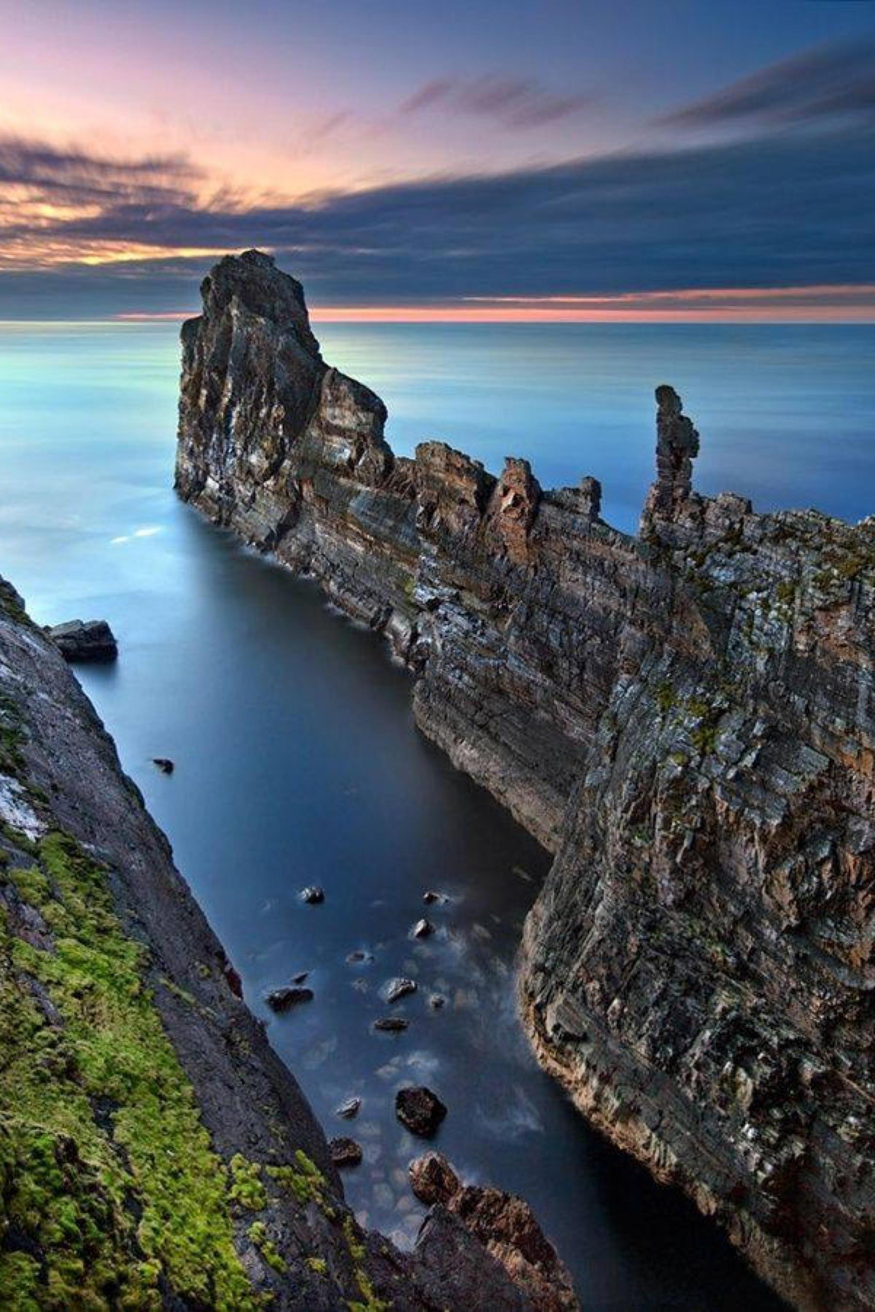 ireland rock sea coast ocean beach water cliff landscape geological formation