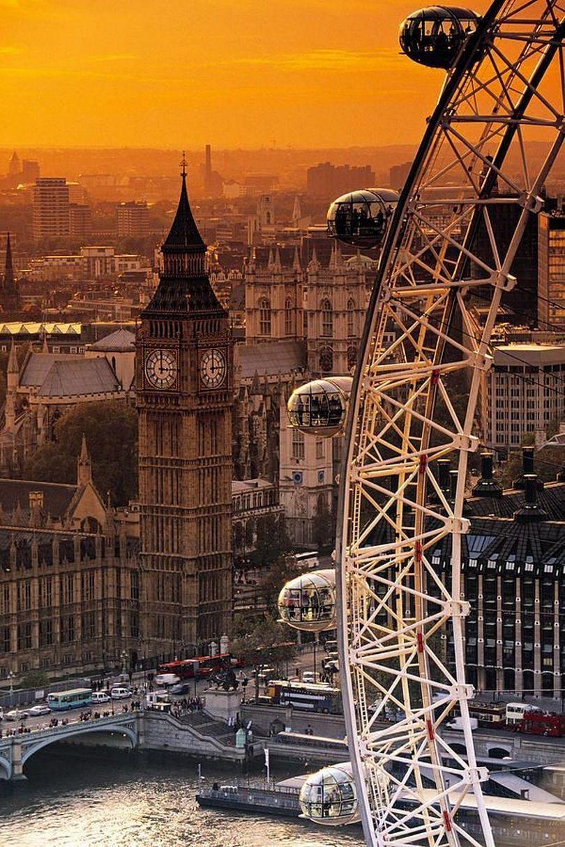 london bigben wheel thames river