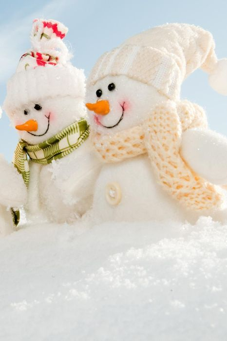 christmas snowman scarf happy friends