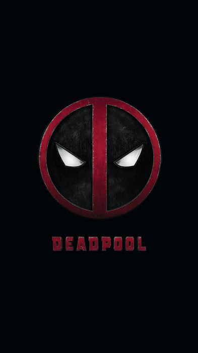 deadpool marvel logo red black background