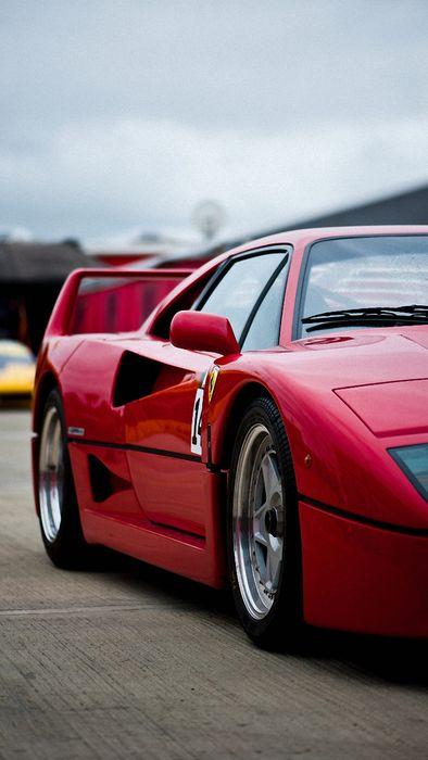 ferrari f40 red sportcar