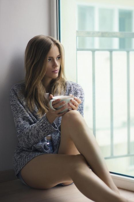 model girl coffee cup window attractive sexy pretty adult