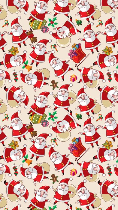 santa claus pattern texture background iphone background 1080x1920