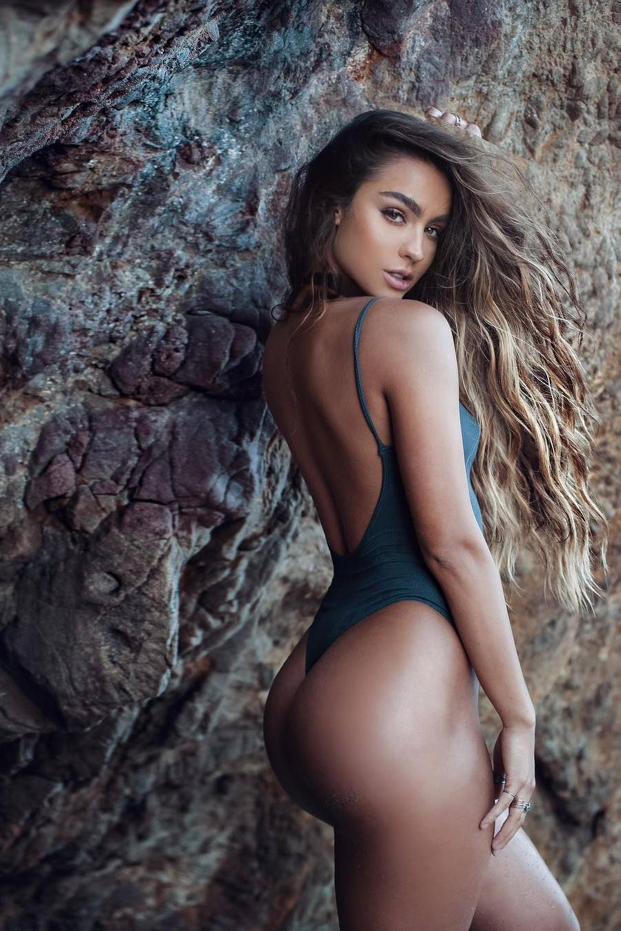 sommer ray fitness model girl stone adorable pretty