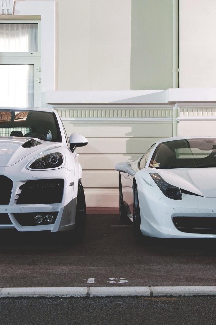 cars sportscar white porsche ferrari street wallpaper