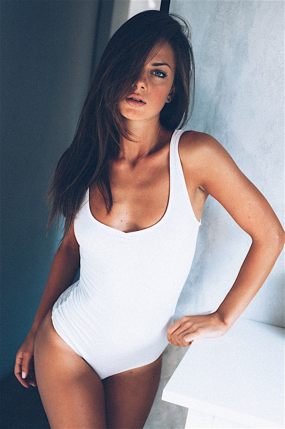 girl swimsuit white clothing attractive sexy model