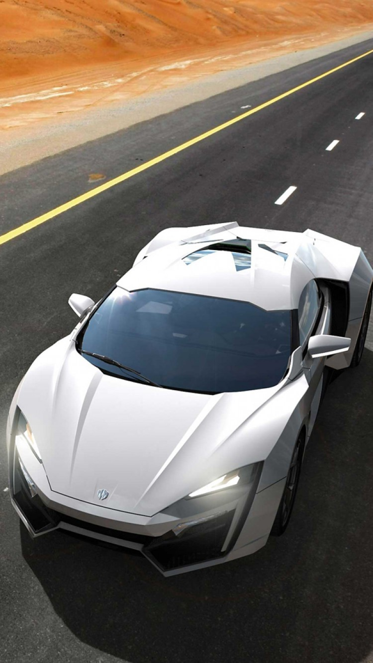 lykan hypersport sportscar white road desert