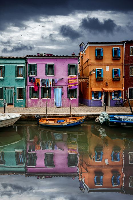 burano building colorful architecture city house home travel street tourism balcony