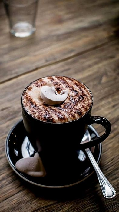 cappuccino coffee cup espresso drink beverage cafe hot mug good morning