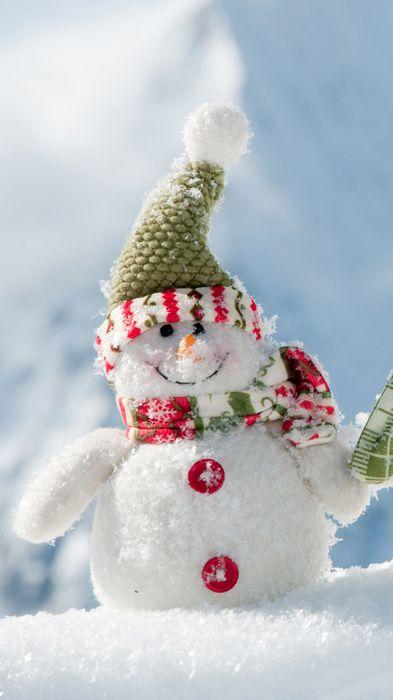 christmas happy snowman green hat scarf