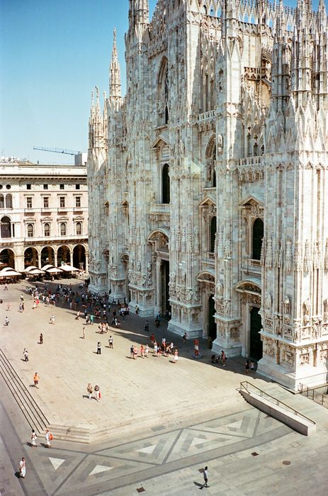 italy milan architecture building old tourism ancient travel city europe