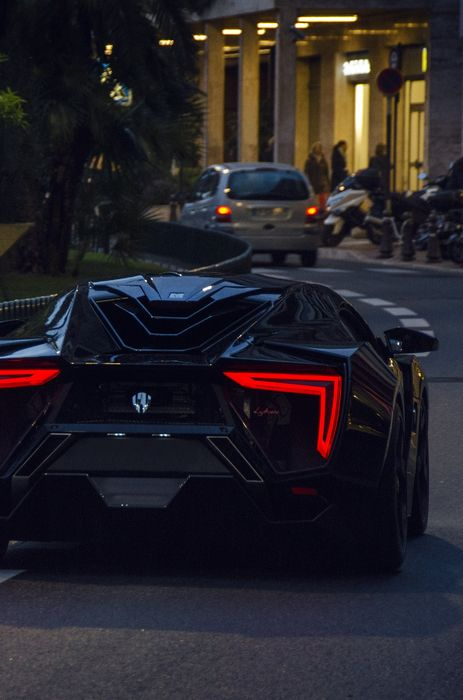 sportscar black lykan hypersport back street