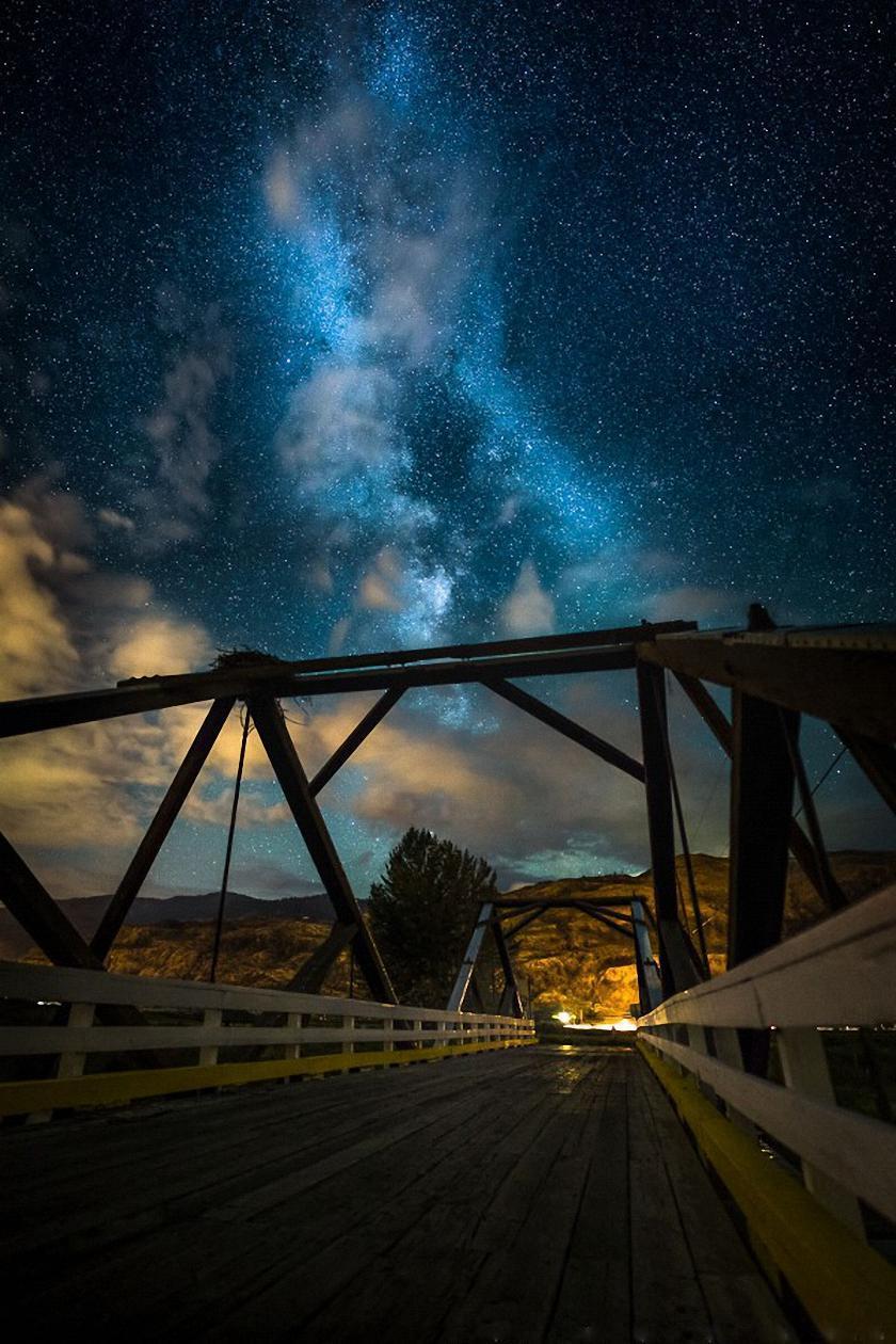 sky stars bridge milkyway
