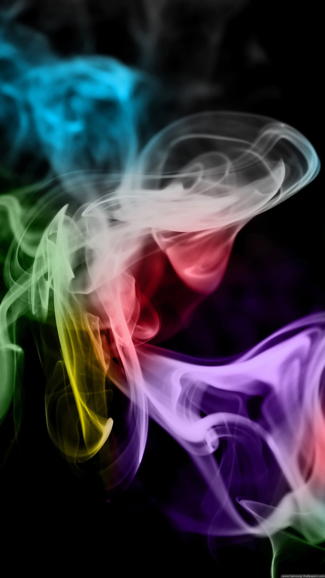 background smoke clorful abstraction black
