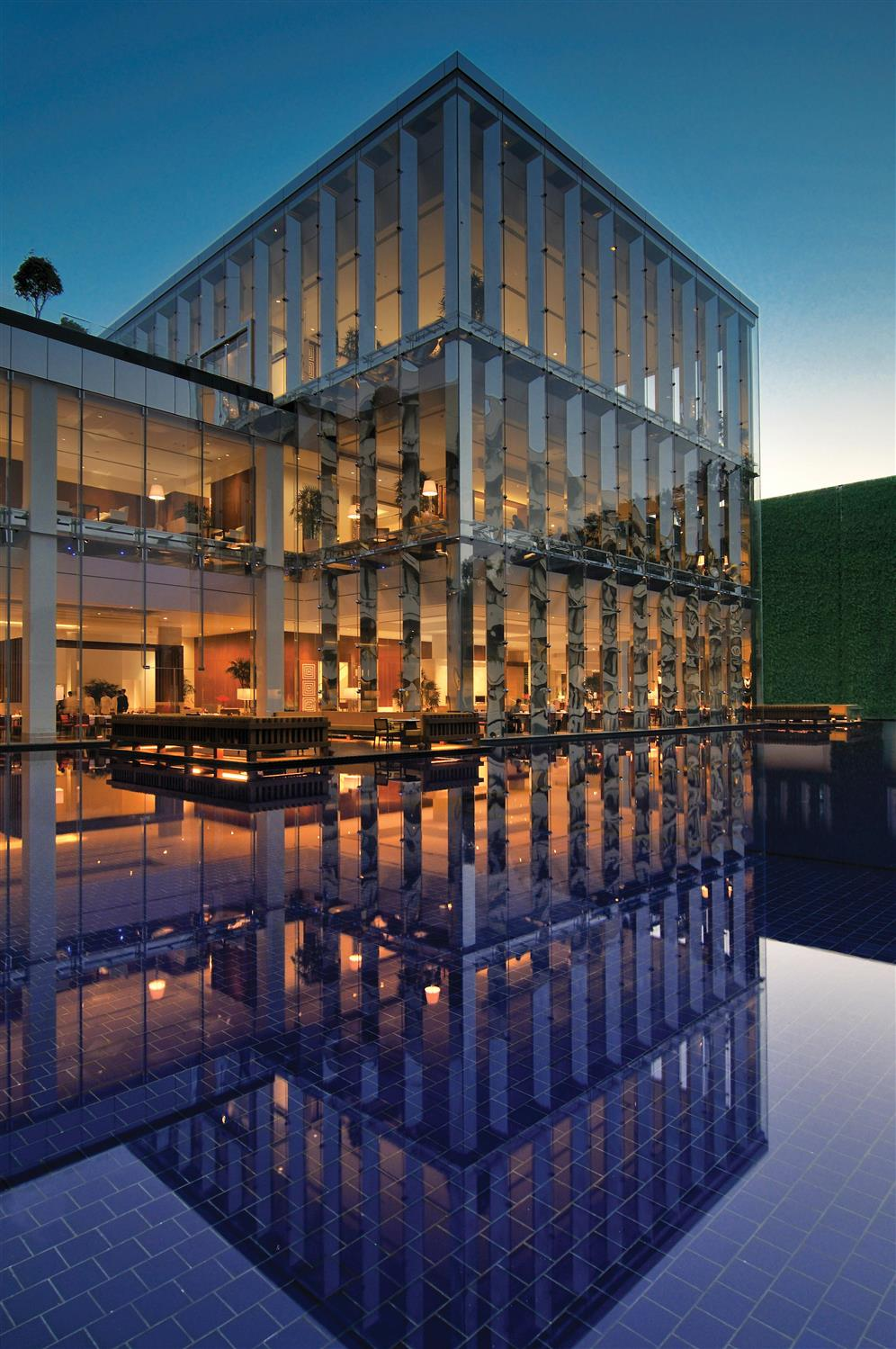 luxury reflection house building architecture city urban library structure cityscape construction business