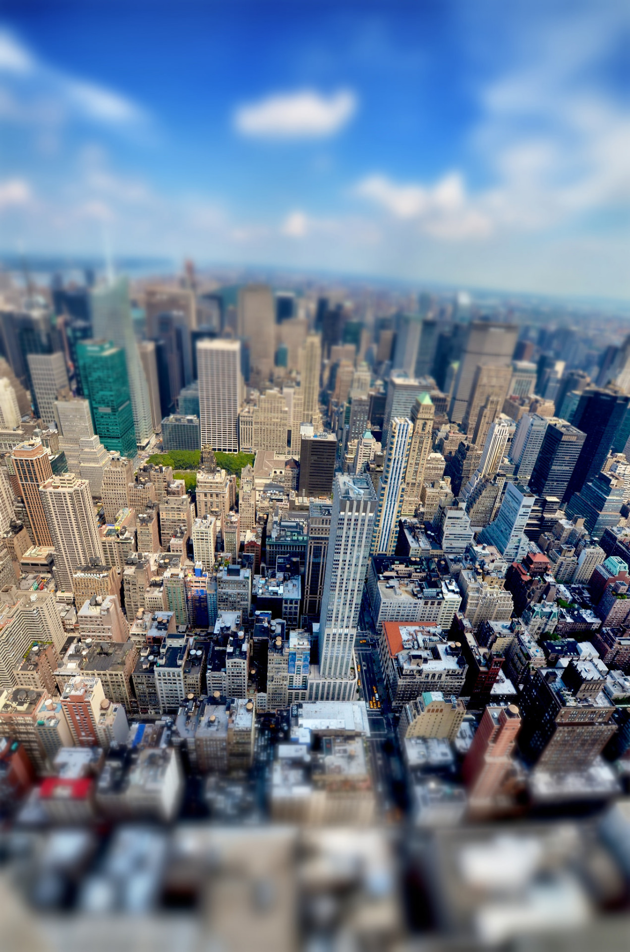 manhattan city skyline tilt shift cityscape urban architecture skyscraper building