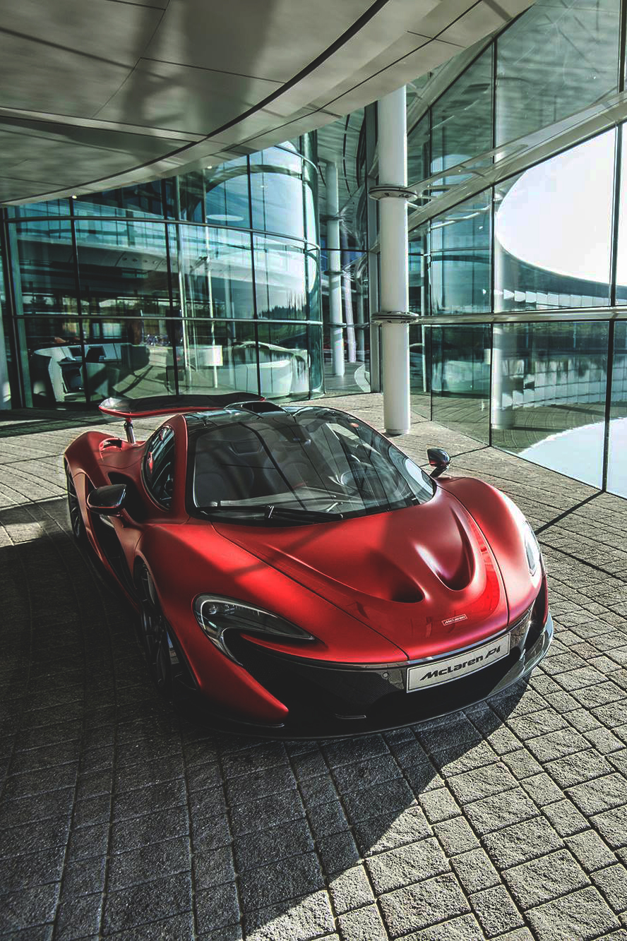 mclaren p4 red glass sportscar auto drive wheeled speed motor