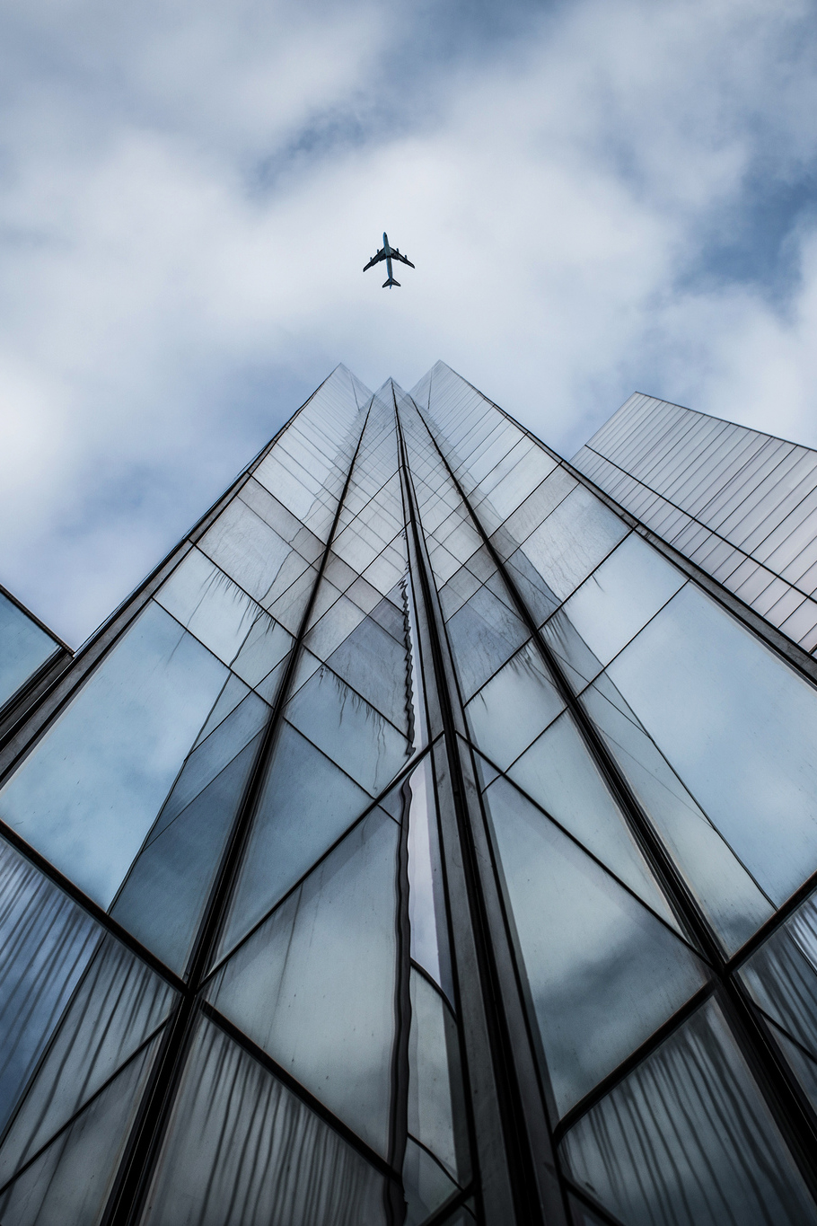 plane building tower business structure sky architecture modern technology