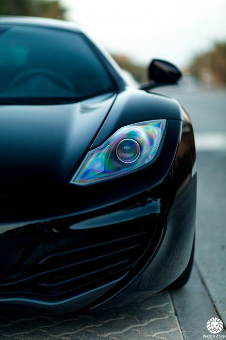 mclaren black sportscar street fast speed macro