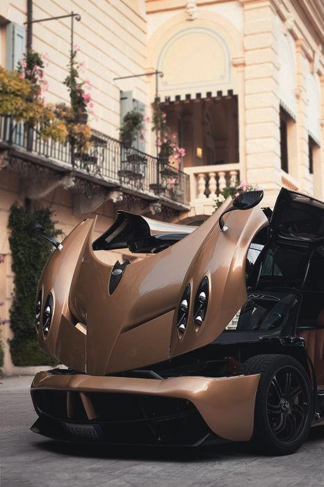 pagani brown sportscar luxury street transform speed
