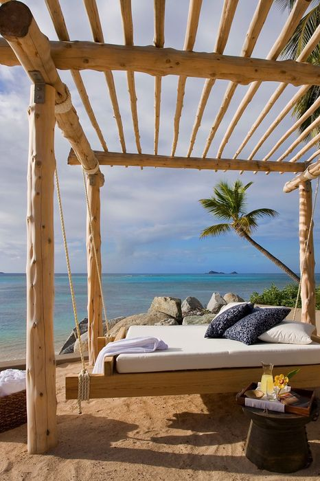 palm sky sea water travel beach ocean landscape resort summer vacation