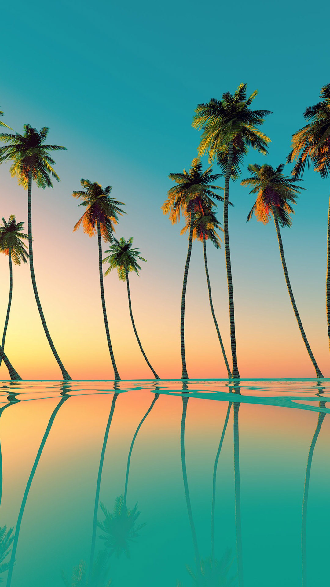 tree sky summer beach sea coconut tropical vacation palm water