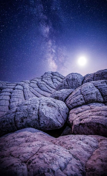 milkyway sky nature travel desktop landscape light violet rock outdoors dark