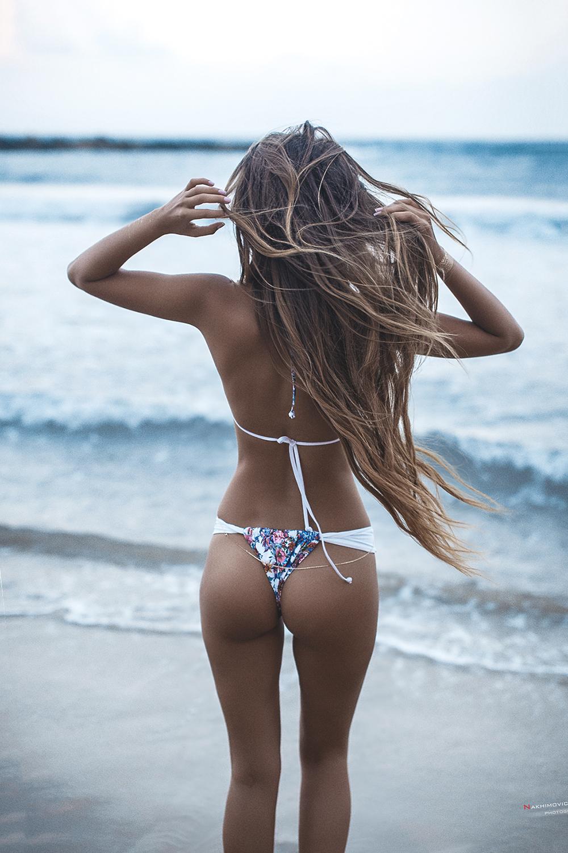 girl beach bikini sexy water woman summer sea ocean swimsuit sand sun travel