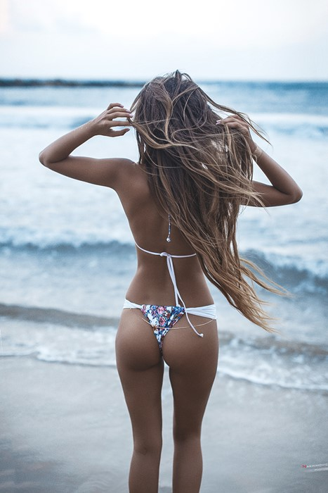 girl beach bikini sexy water woman summer sea ocean swimsuit sand sun travel