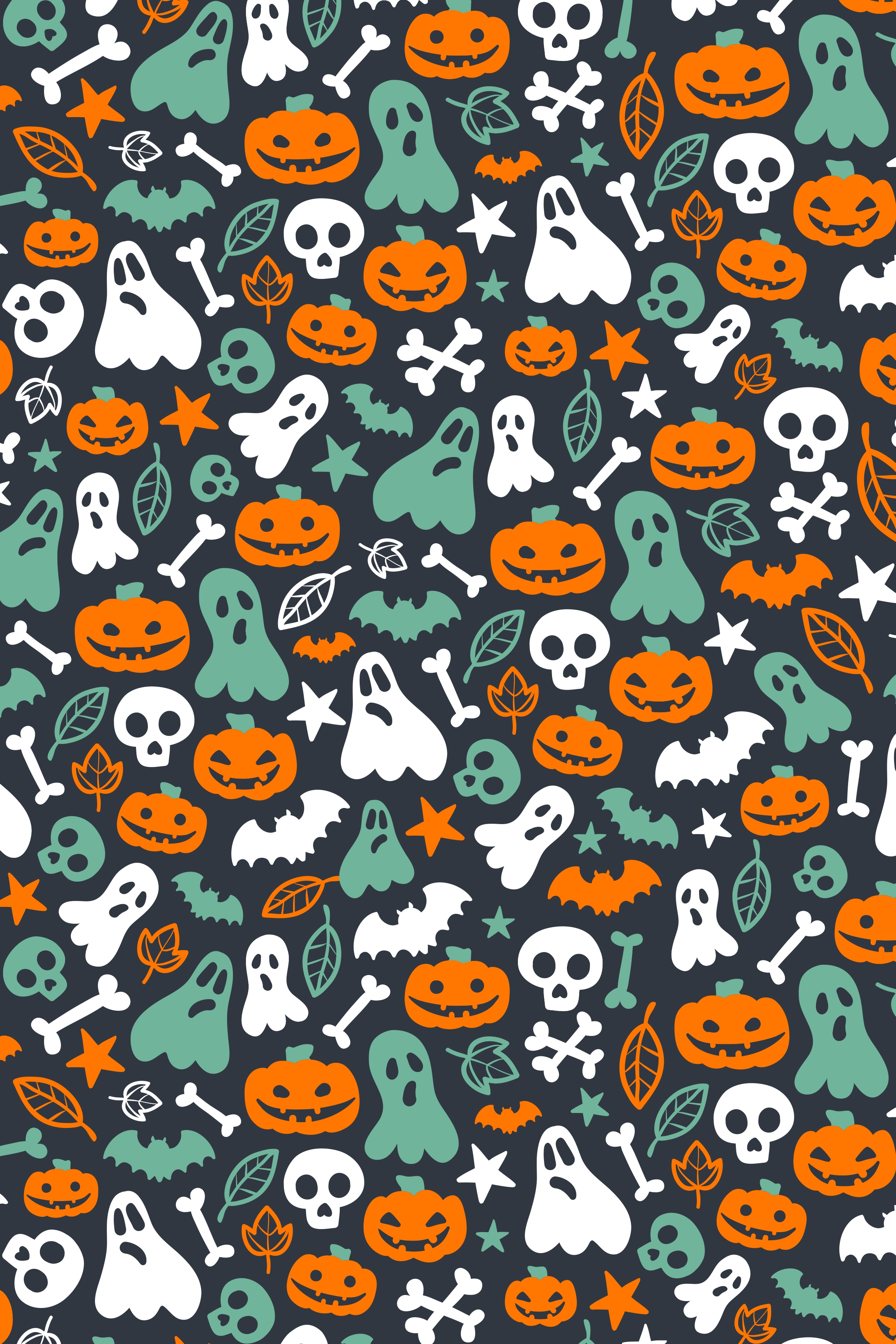 halloween vector pattern decoration retro illustration texture art abstract background