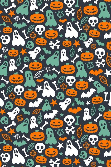 halloween vector pattern decoration retro illustration texture art abstract background