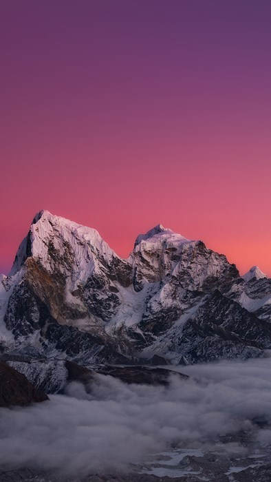 snow mountain winter sunset ice landscape sky travel outdoors dawn mountain peak hike high cold