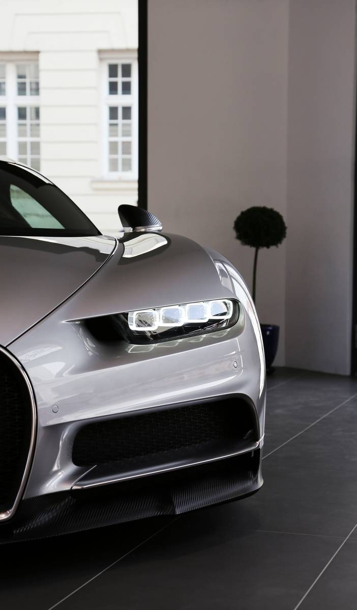 chiron bugatti sportscar luxury grey speed fast