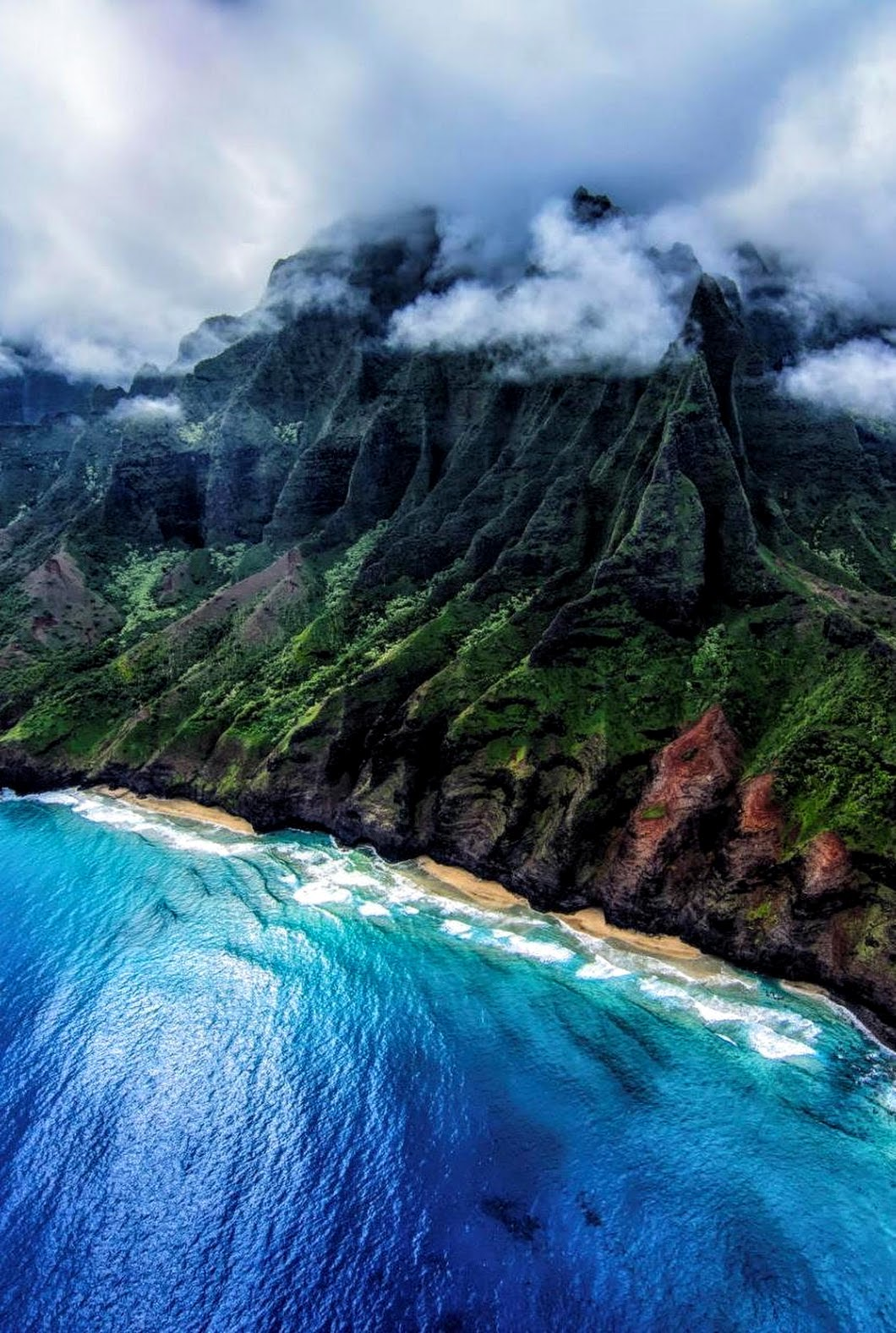 hawaii water nature travel landscape outdoors river summer sky mountain wood rock