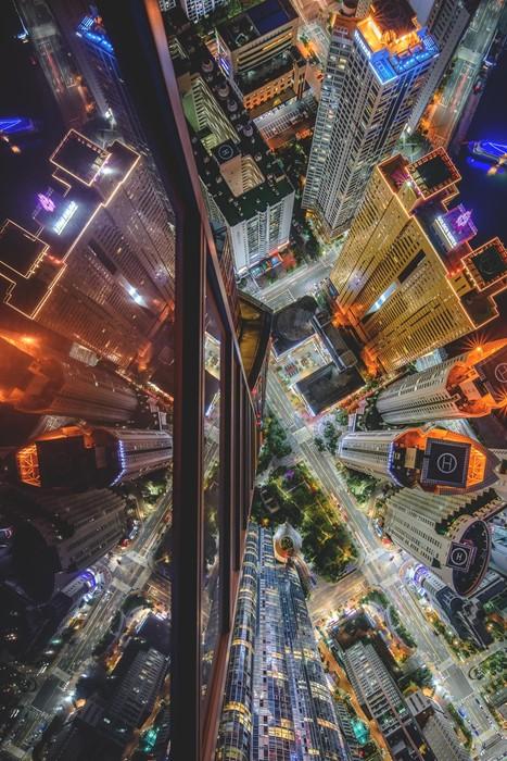 city building urban architecture light skyscraper road downtown travel business cityscape modern