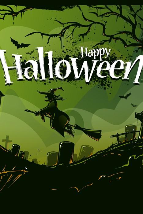 halloween vector illustration silhouette scary horror haunt bat tree graphic