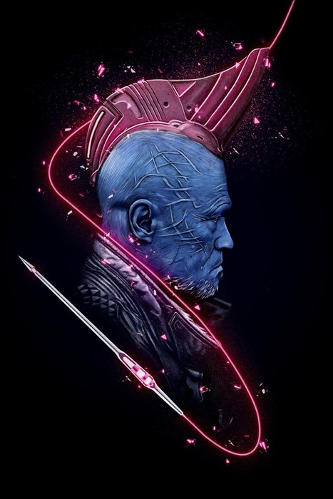 marvel yondu guardians illustration dark fantasy design art shape motion