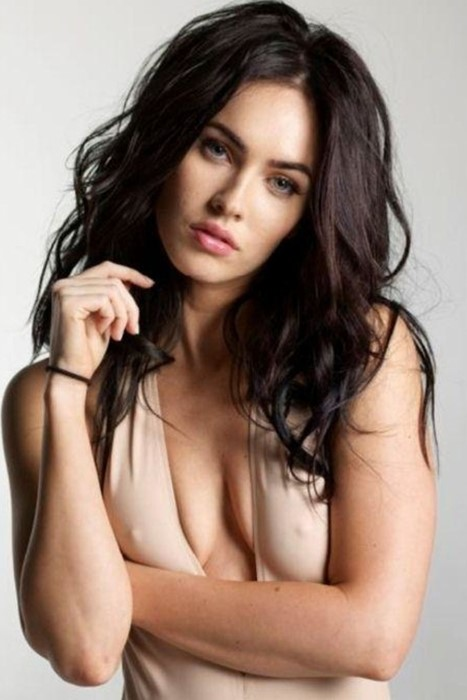 megan fox girl sexy pretty fashion brunette glamour skin long nude hair young