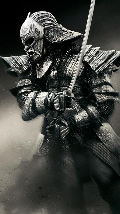 samurai japan sculpture statue art metalwork weapon man