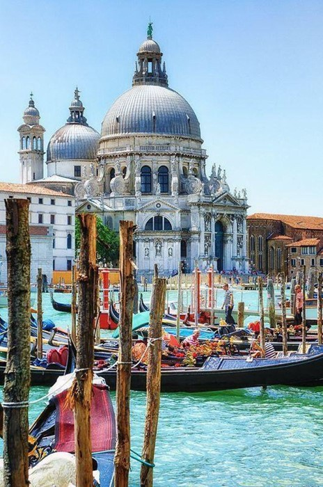 venice travel building gondola water tourism city canal venetian religion church sky