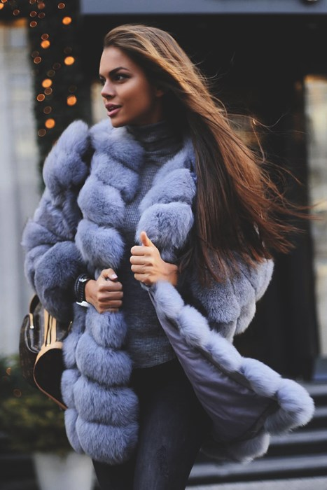 viki odincova winter portrait cold wear girl snow coat model fashion
