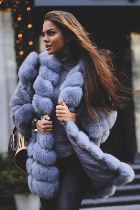 viki odincova winter portrait cold wear girl snow coat model fashion