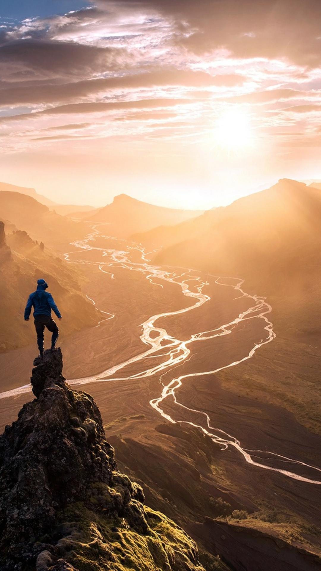 sunset landscape dawn travel mountain people daylight desert sky adventure dusk sun