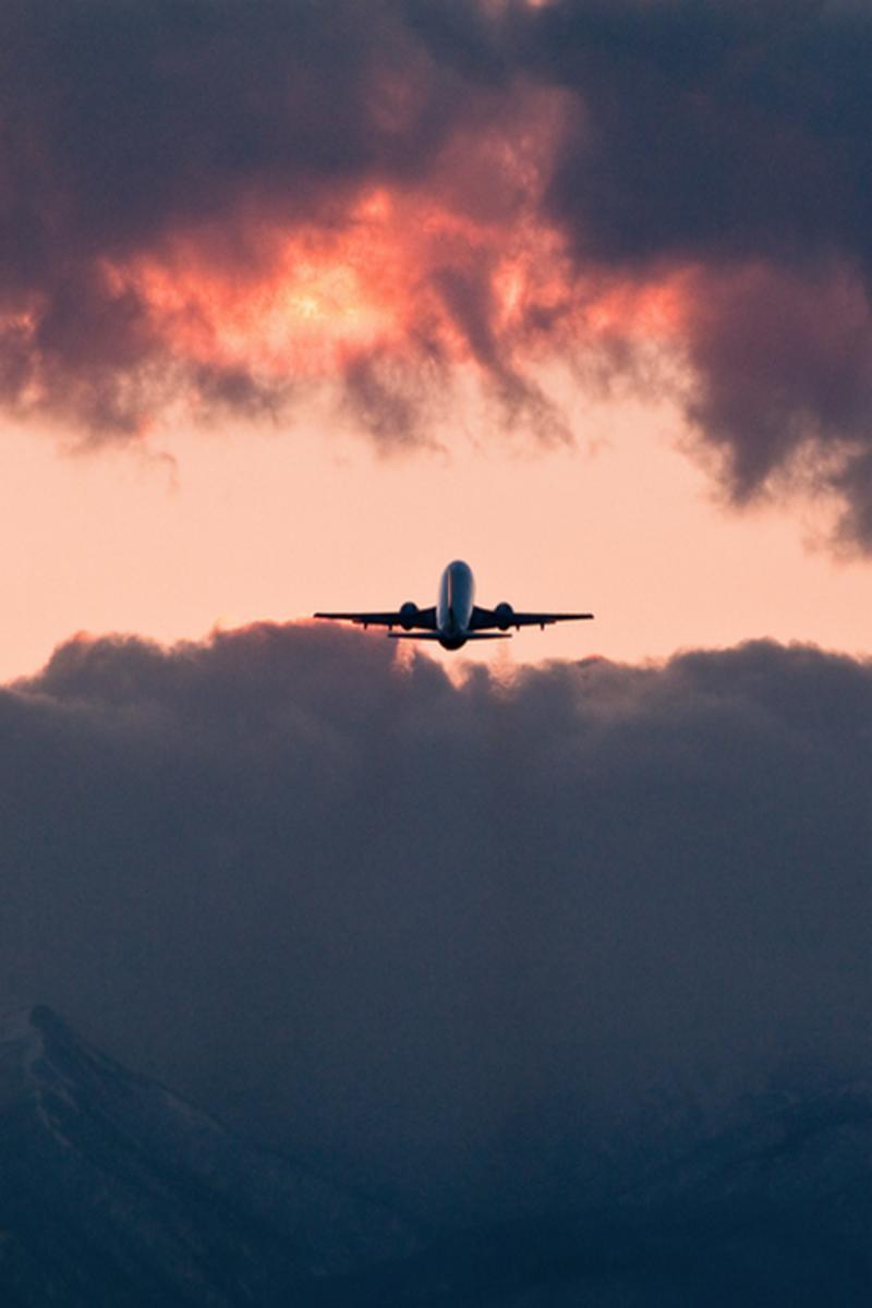 airplane aircraft military sky sunset silhouette backlit flight vehicle smoke dawn evening