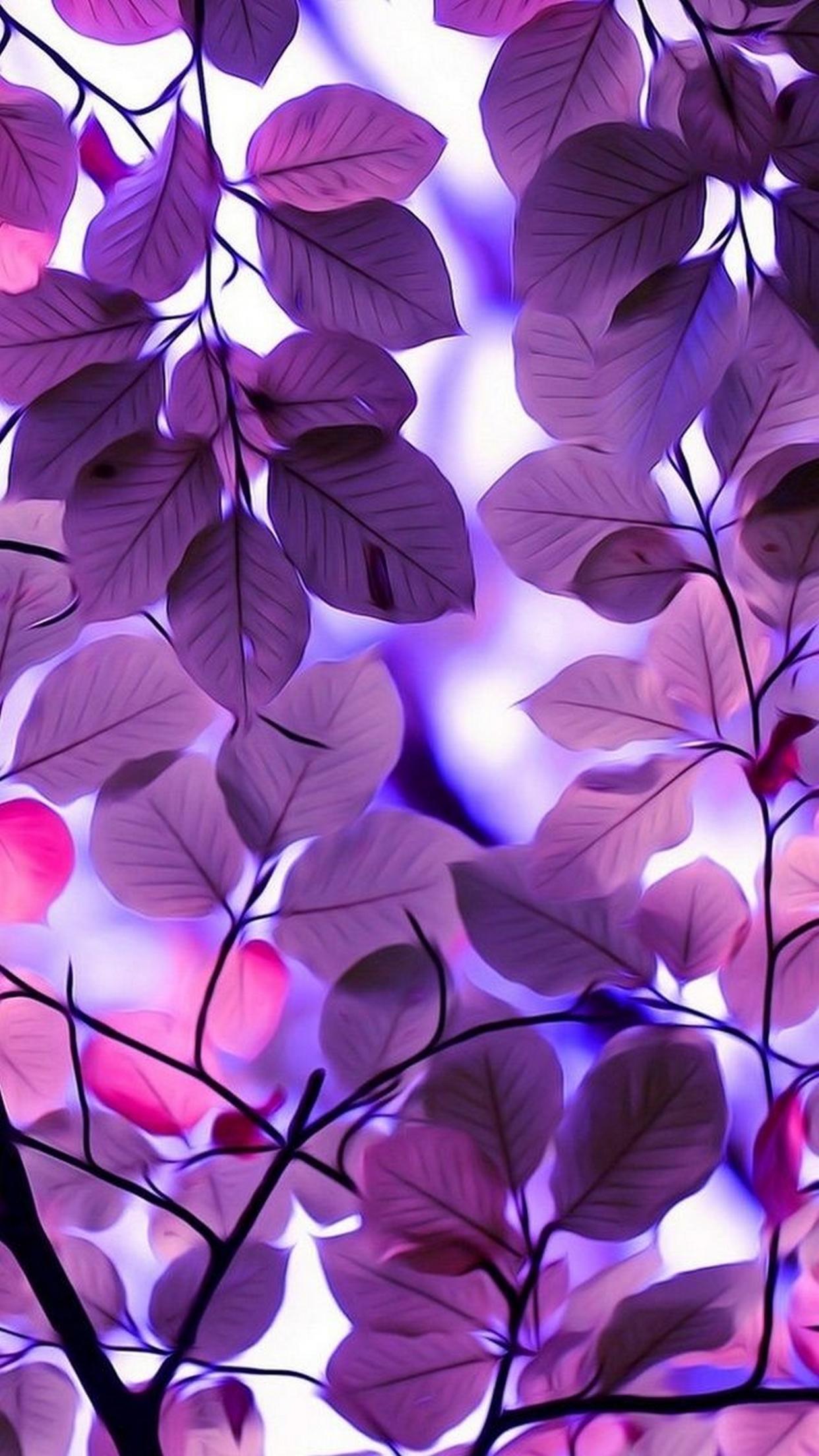 leaf violet color design flora nature art pattern flower beautiful